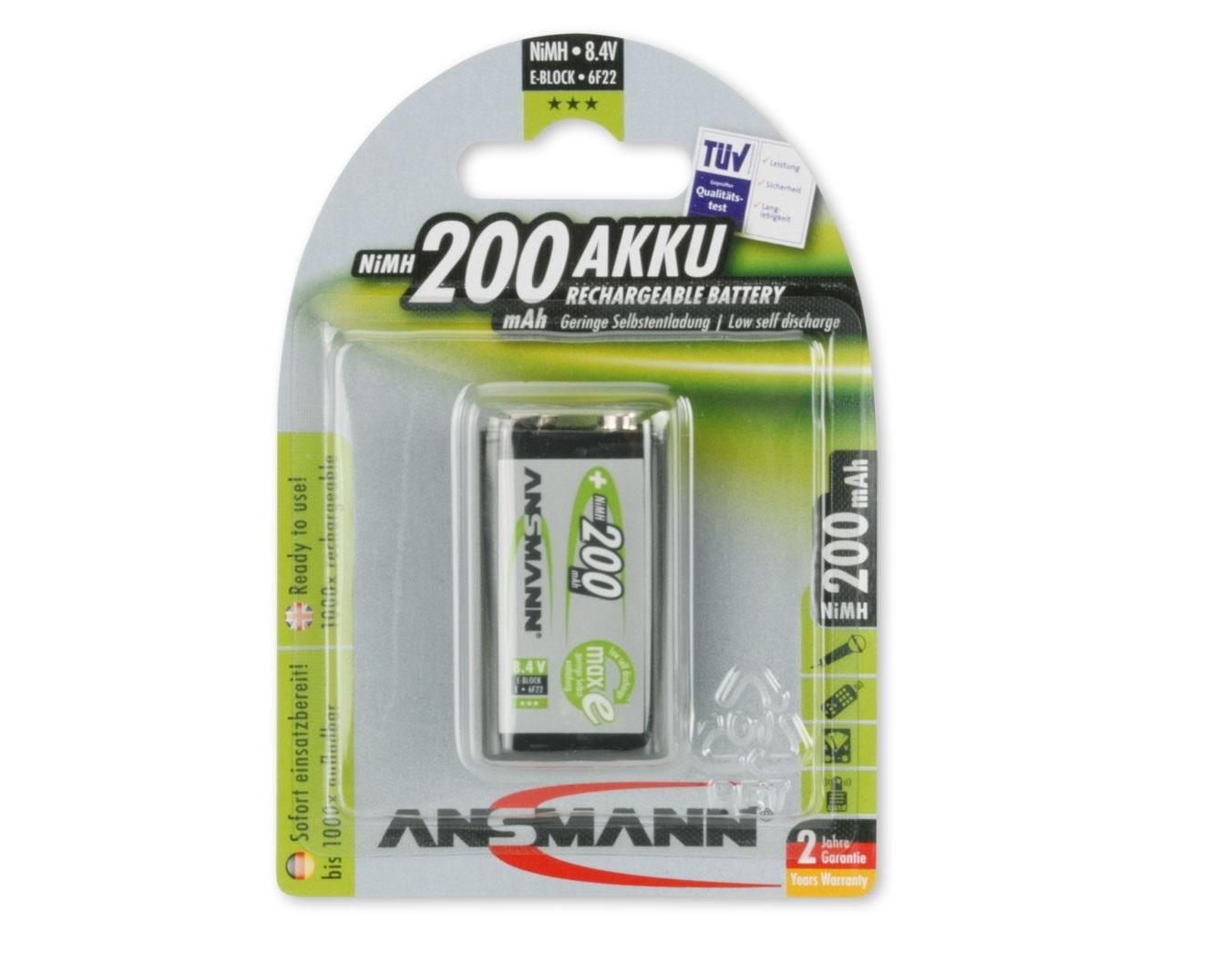ANSMANN Pin sạc cao cấp NiMH E-200mAh - 5035342