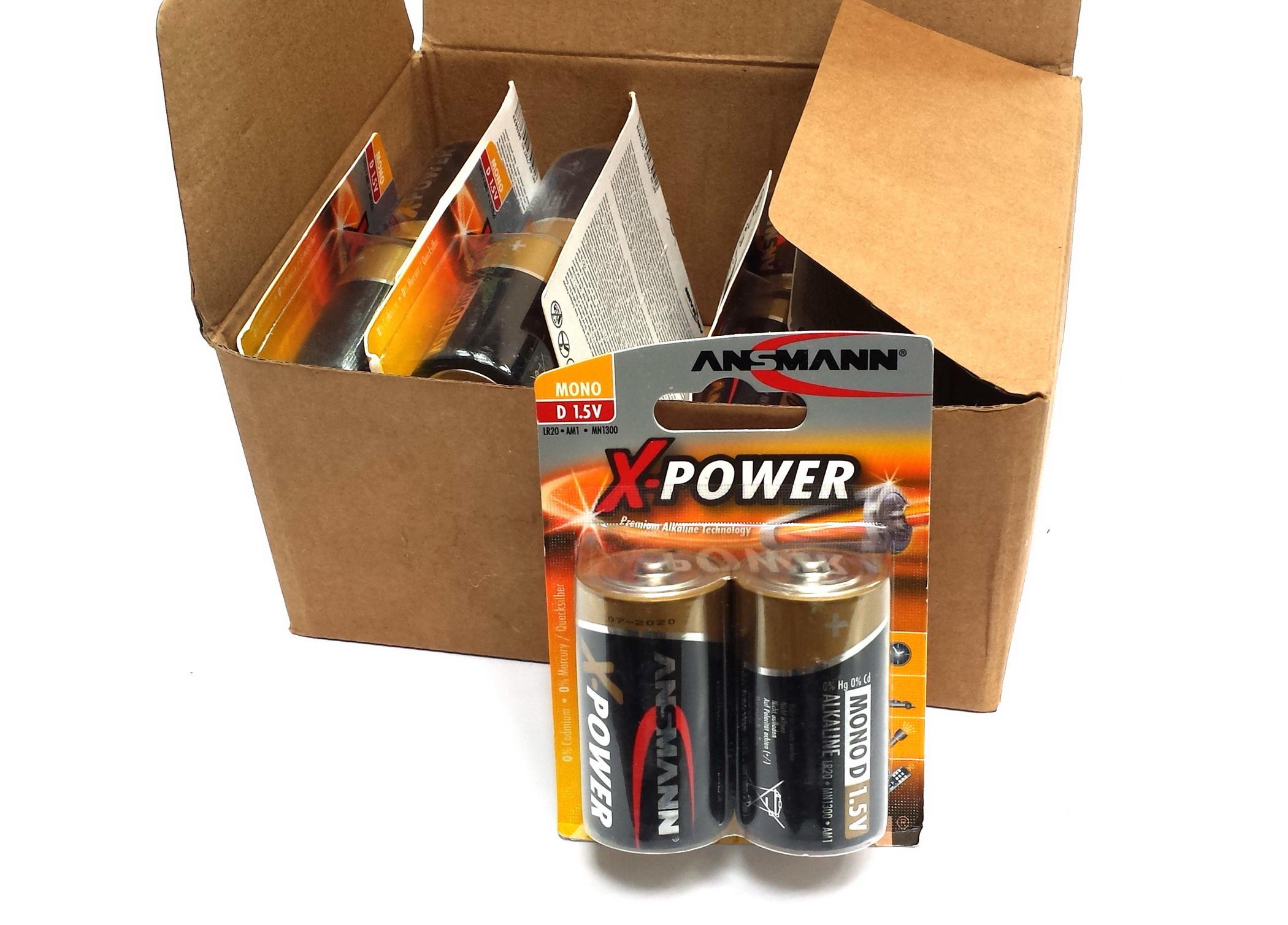 ANSMANN Pin ALKALINE X-Power Mono D LR20 - 5015633